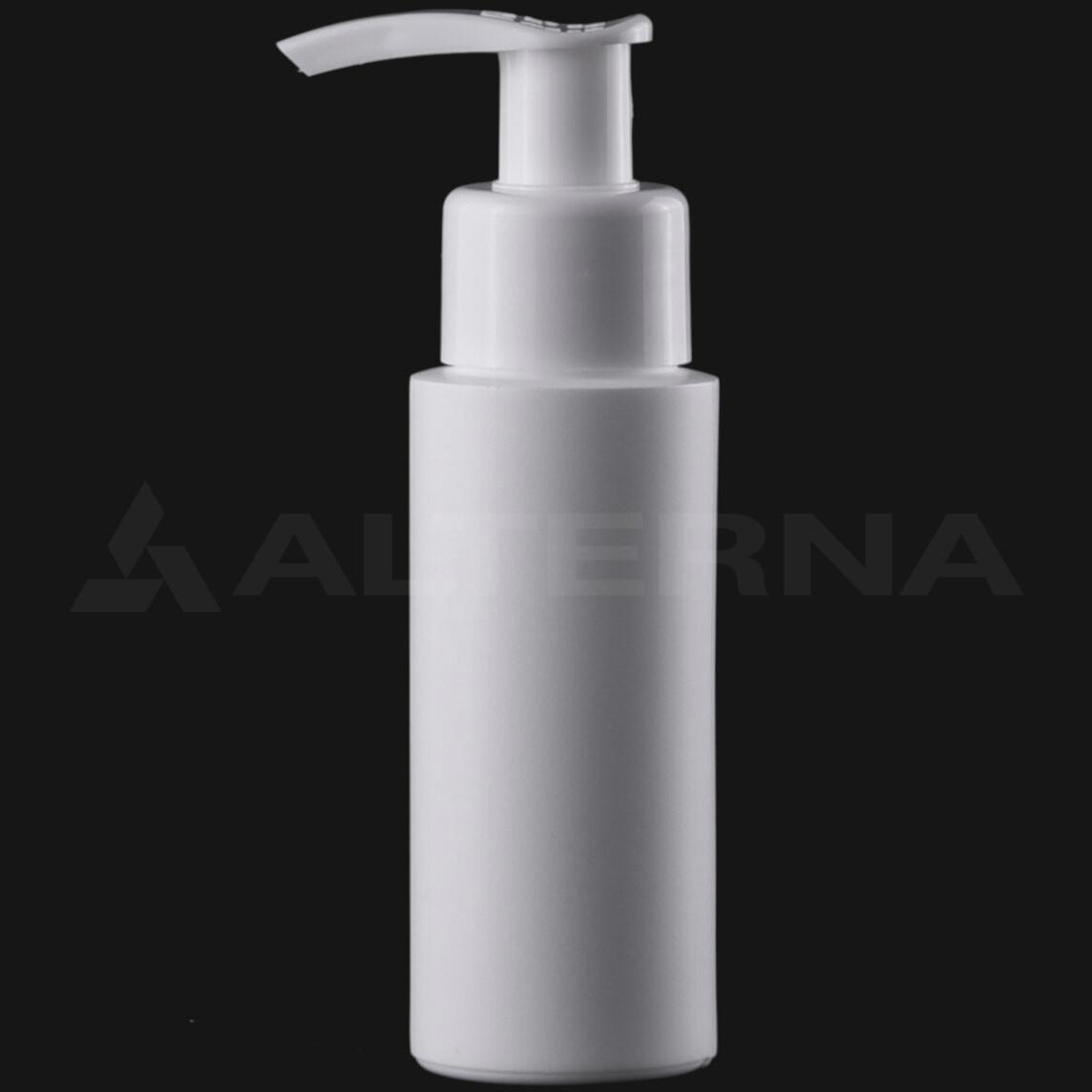 50 ml HDPE Bottle with 24 mm Pump Dispenser
