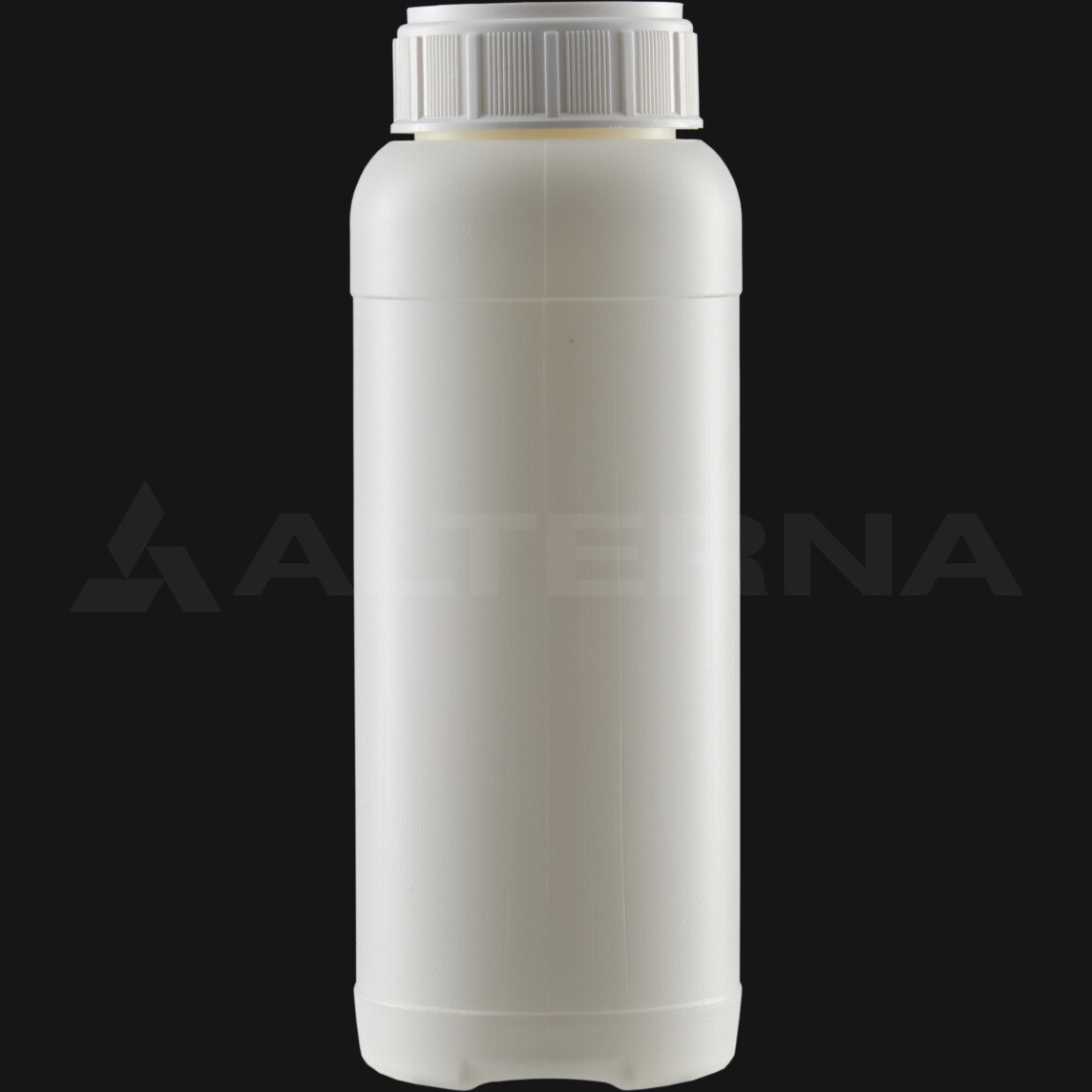 1000 ml HDPE Bottle with 63 mm Alu. Foil Seal Vented Cap