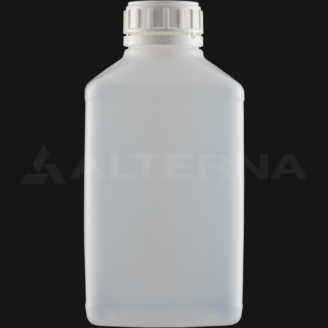 1000 ml HDPE Rectangular Bottle with 50 mm Foam Seal Secure Cap