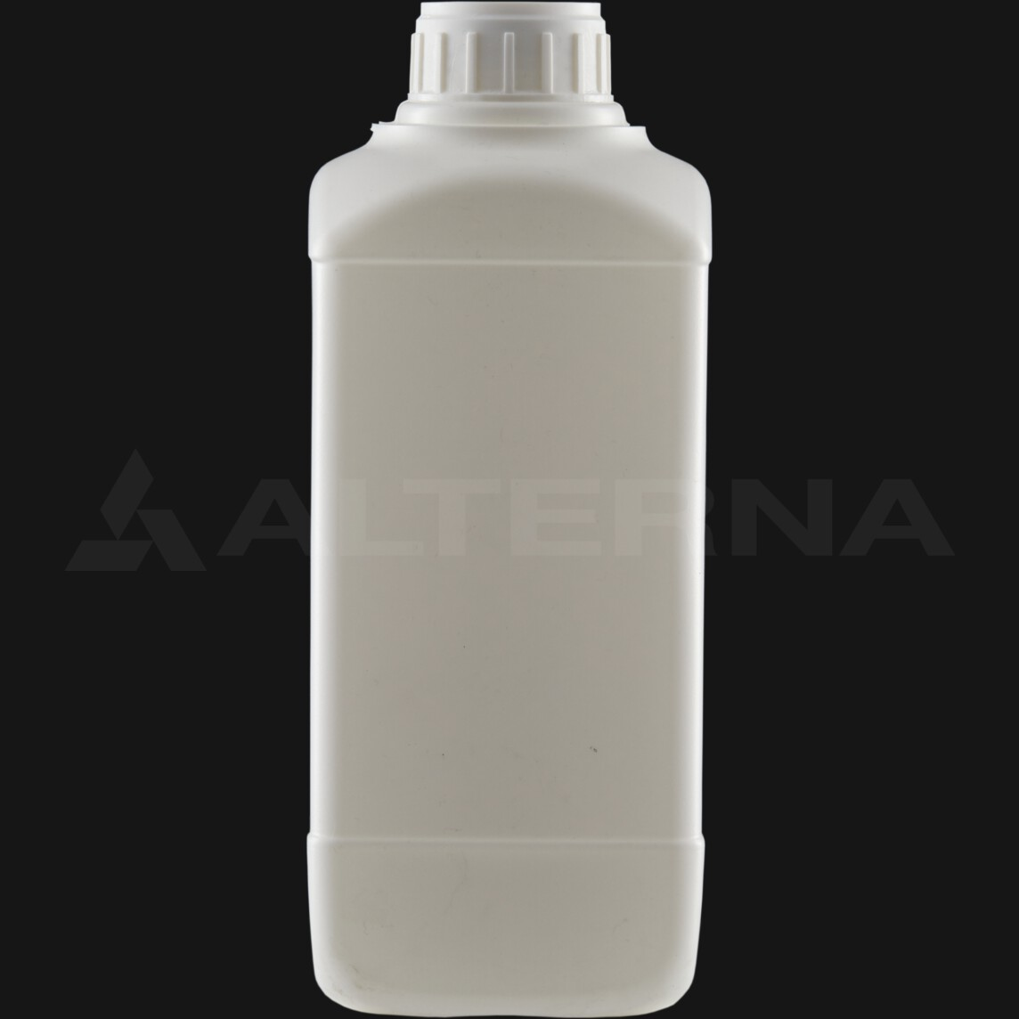 1000 ml HDPE Square Bottle with 38 mm Alu. Foil Seal Cap