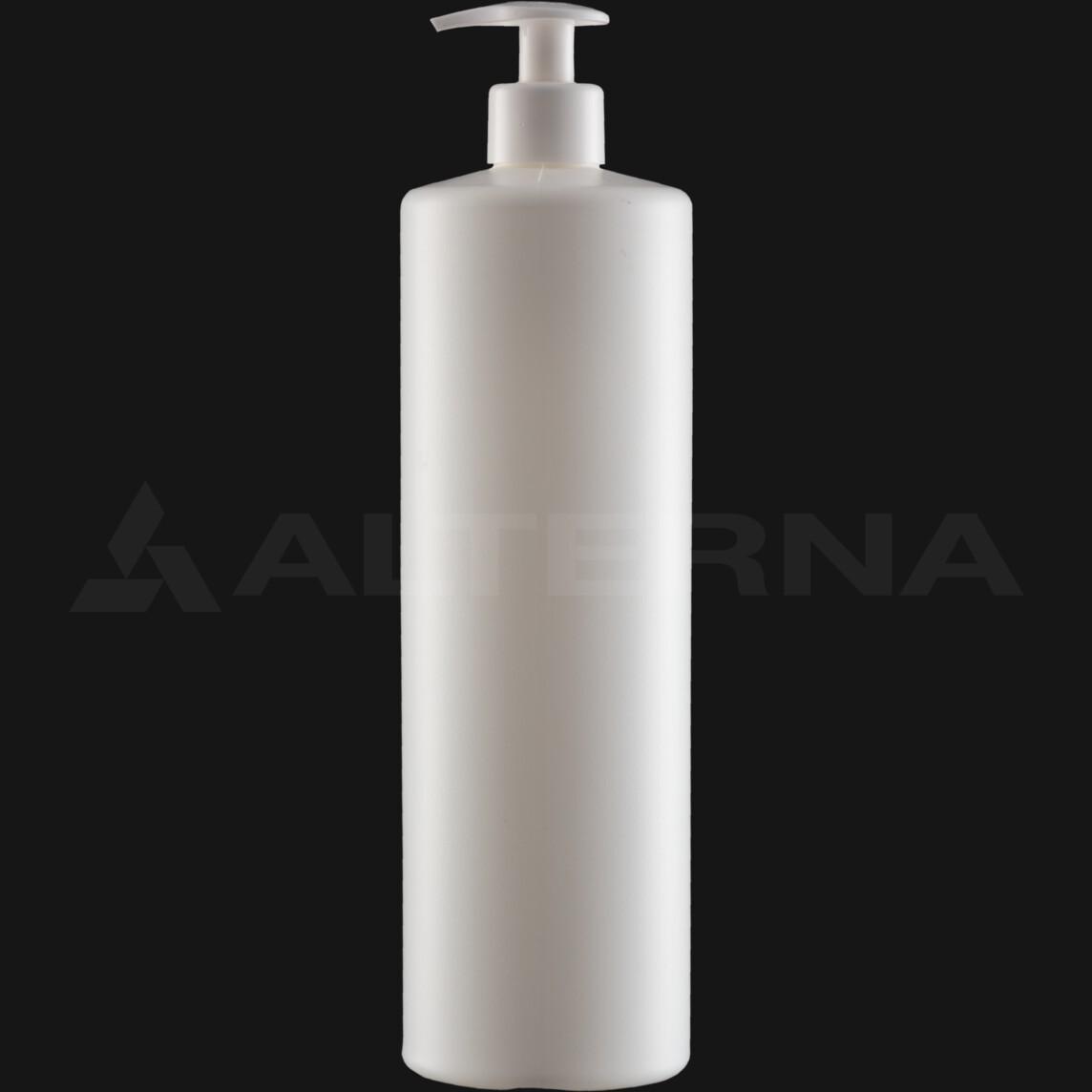 1000 ml HDPE Bottle with 28 mm Dispenser Pump
