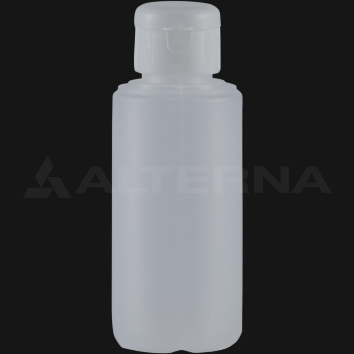 100 ml HDPE Bottle with 28 mm Flip Top Cap