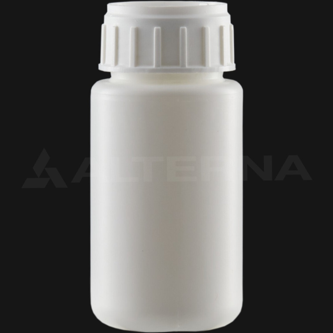 100 ml HDPE Bottle with 38 mm Alu. Foil Seal Vented Cap