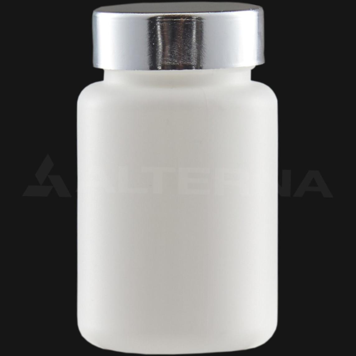 100 ml HDPE Pill Bottle with 38 mm Metal Cap