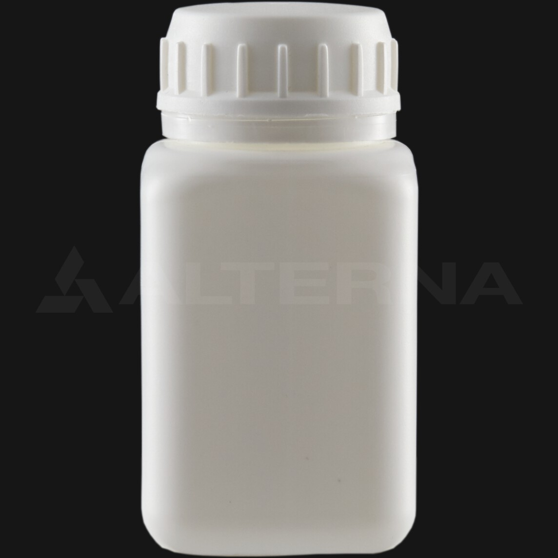 100 ml HDPE Square Bottle with 38 mm Foam Seal Vented Secure Cap
