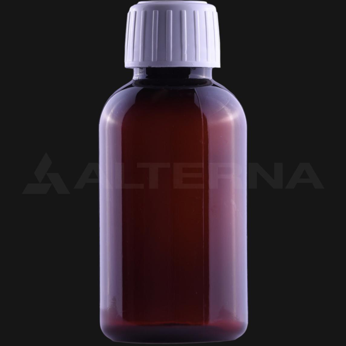 100 ml PET Pharma Bottle with 25 mm Tamper Evident Cap