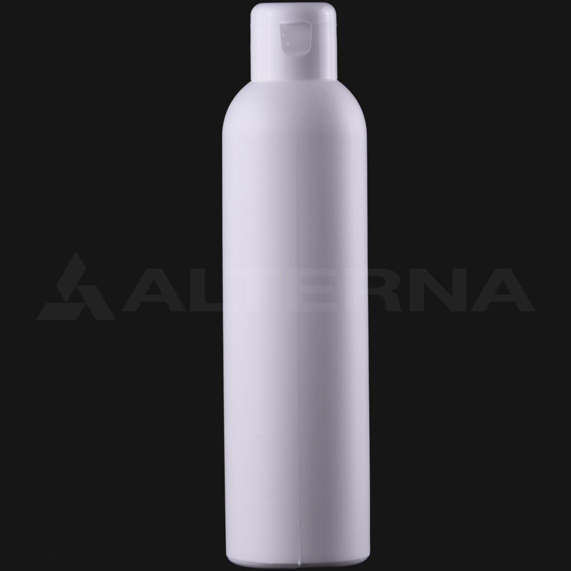 200 ml HDPE Bottle with 24 mm Flip Top Cap