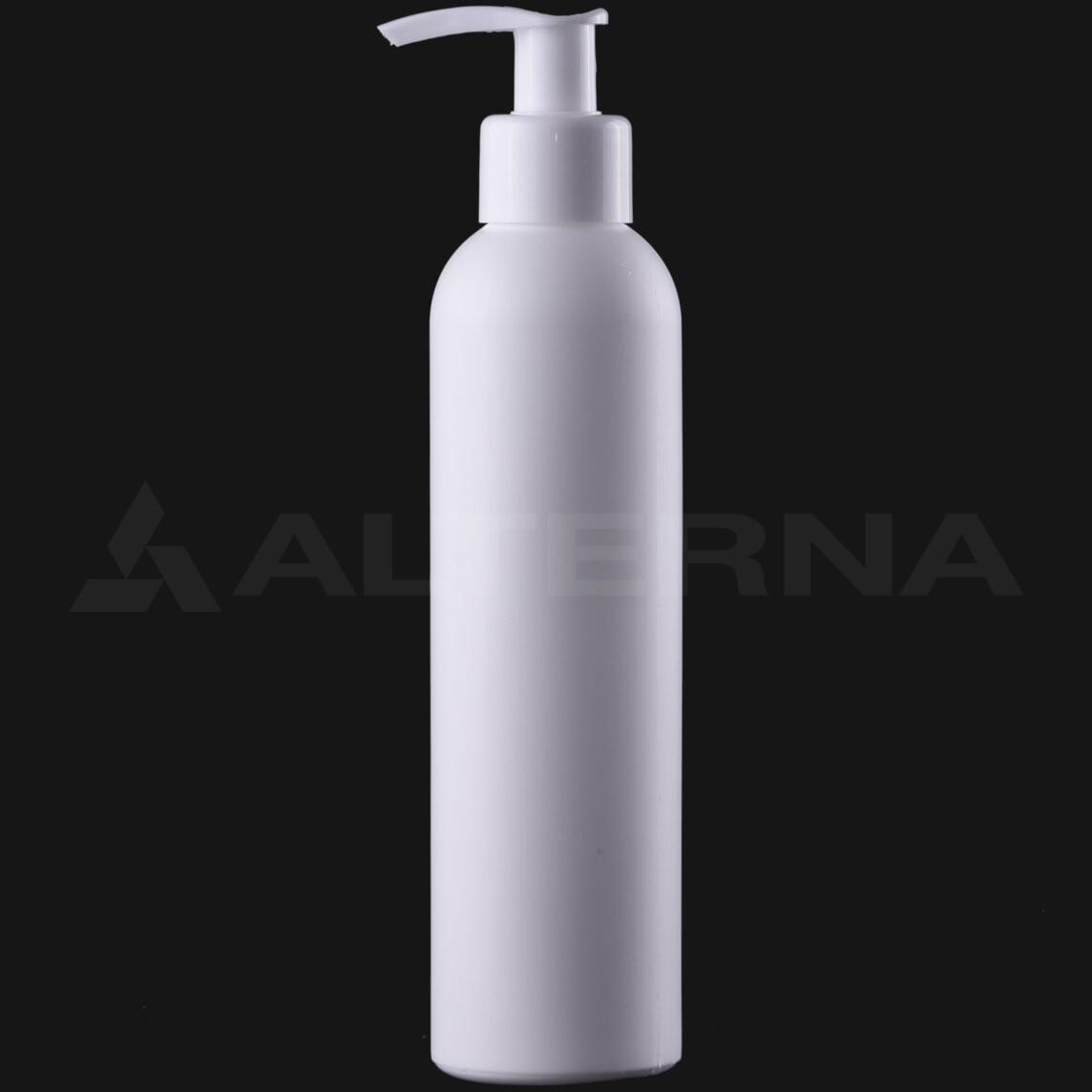 200 ml HDPE Bottle with 24 mm Pump Dispenser