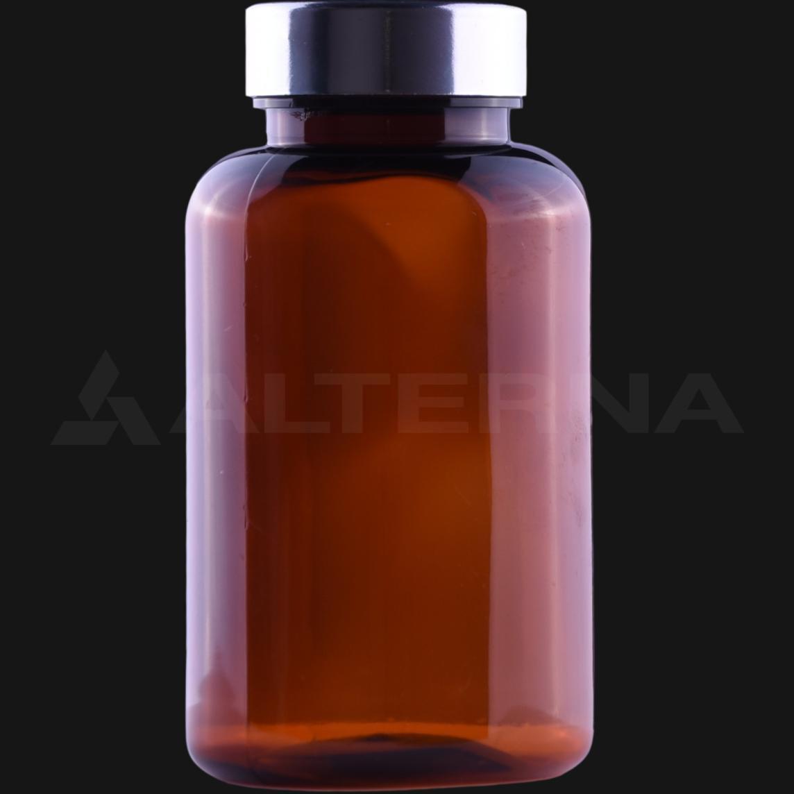 200 ml PET Pill Bottle with 38 mm Metal Cap
