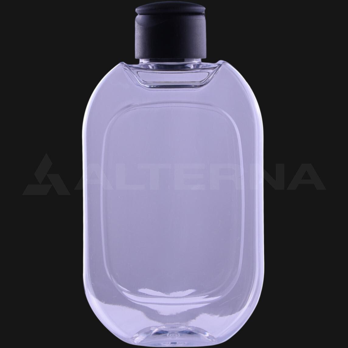 200 ml PET Flat Bottle with 24 mm Flip Top Cap
