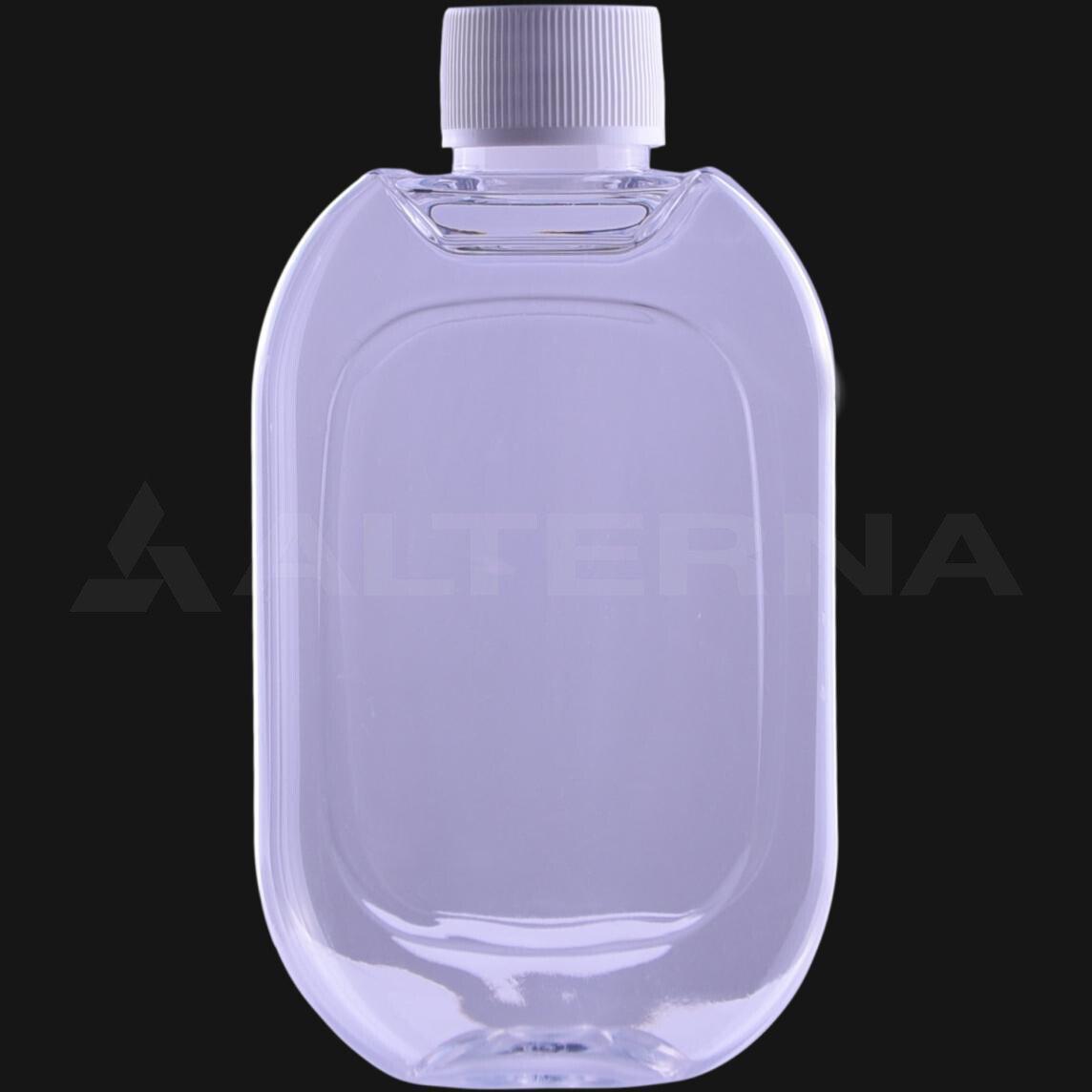200 ml PET Flat Bottle with 24 mm Foam Seal Cap