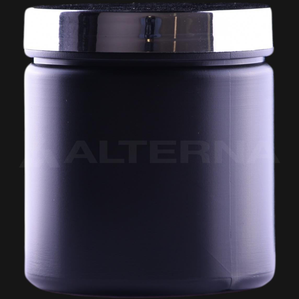 250 ml HDPE Jar with Silver Cap