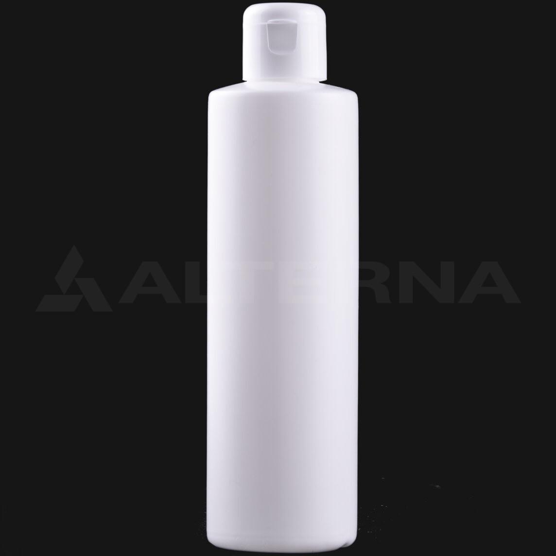 250 ml HDPE Bottle with 24 mm Flip Top Cap