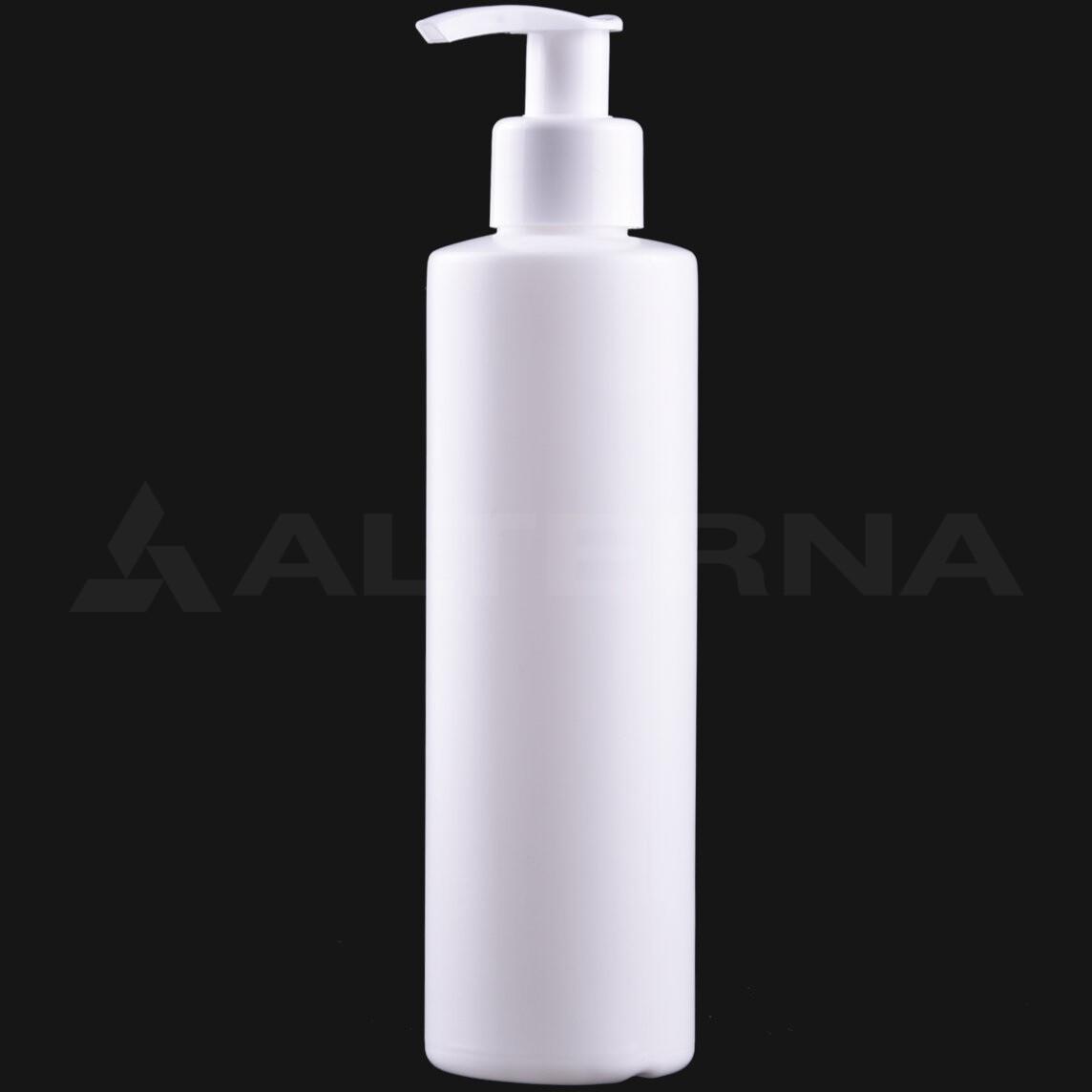 250 ml HDPE Bottle with 24 mm Pump Dispenser