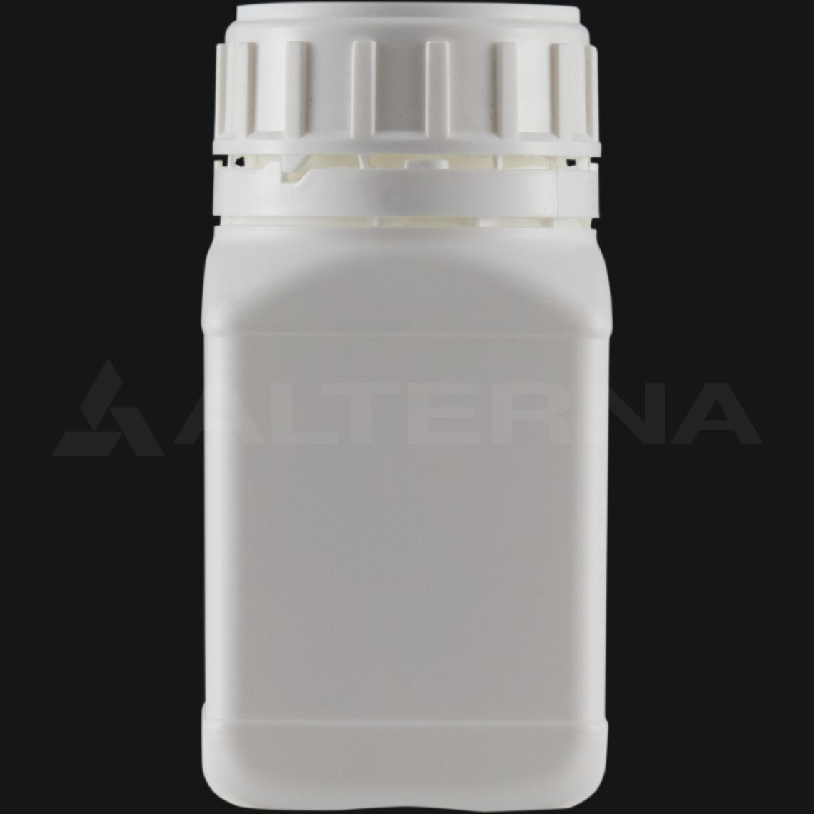250 ml HDPE Square Bottle with 50 mm Foam Seal Vented Secure Cap