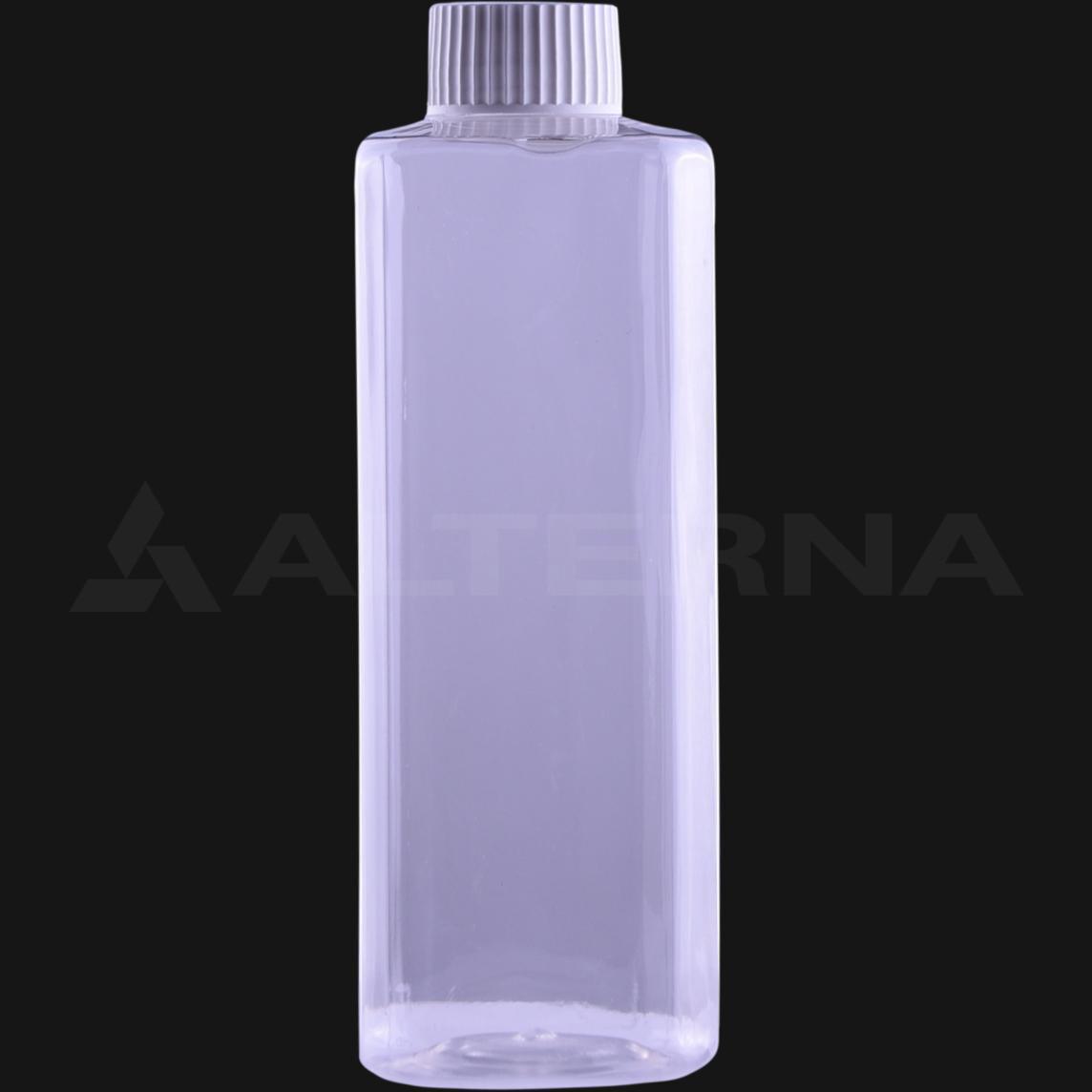 400 ml PET Square Bottle with 28 mm Foam Seal Cap