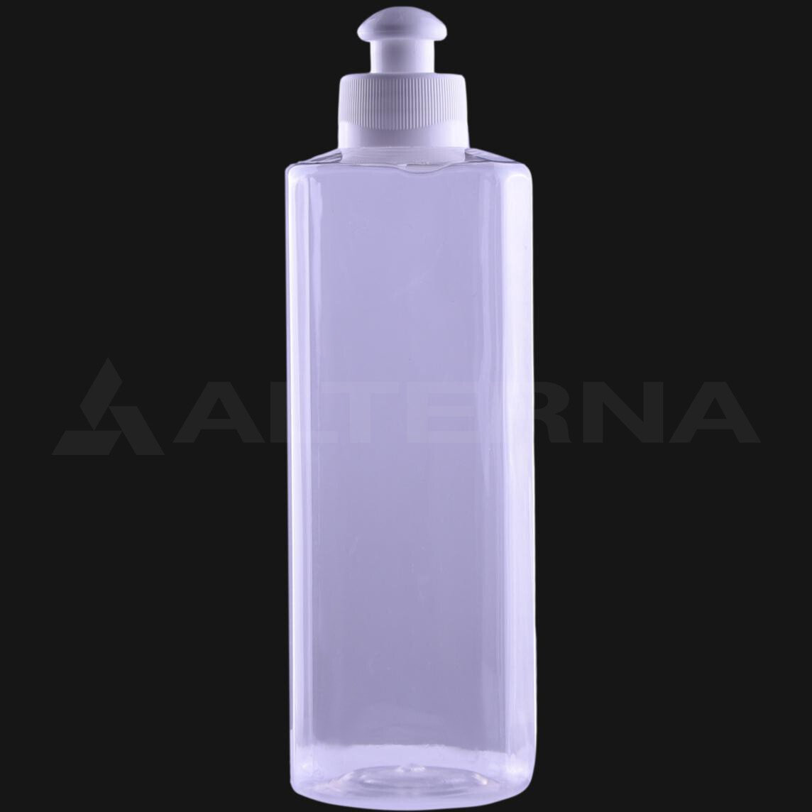 400 ml PET Square Bottle with 28 mm Push Pull Cap