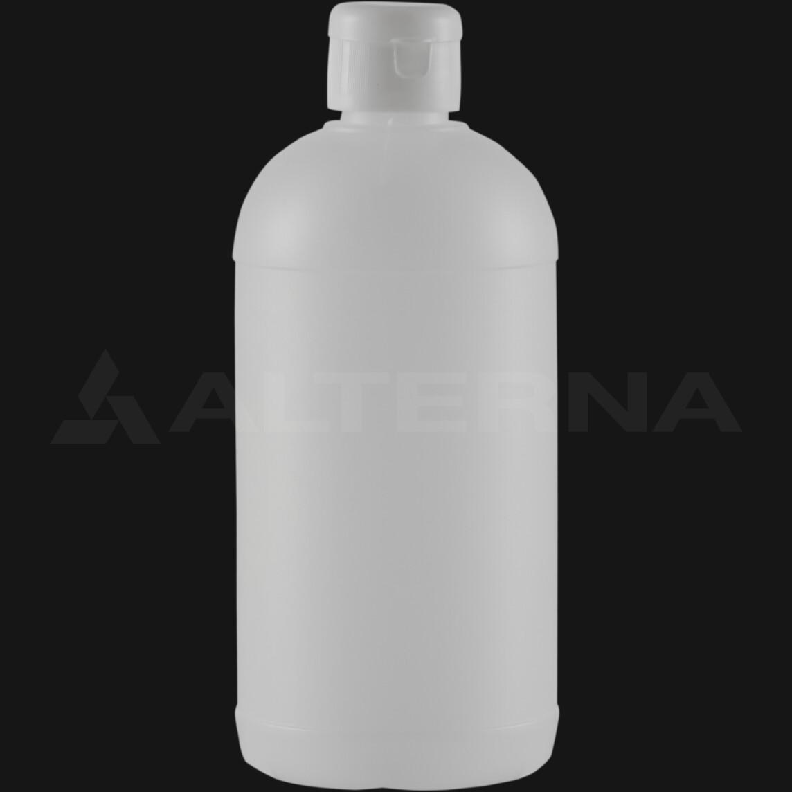 500 ml HDPE Bottle with 28 mm Flip Top Cap