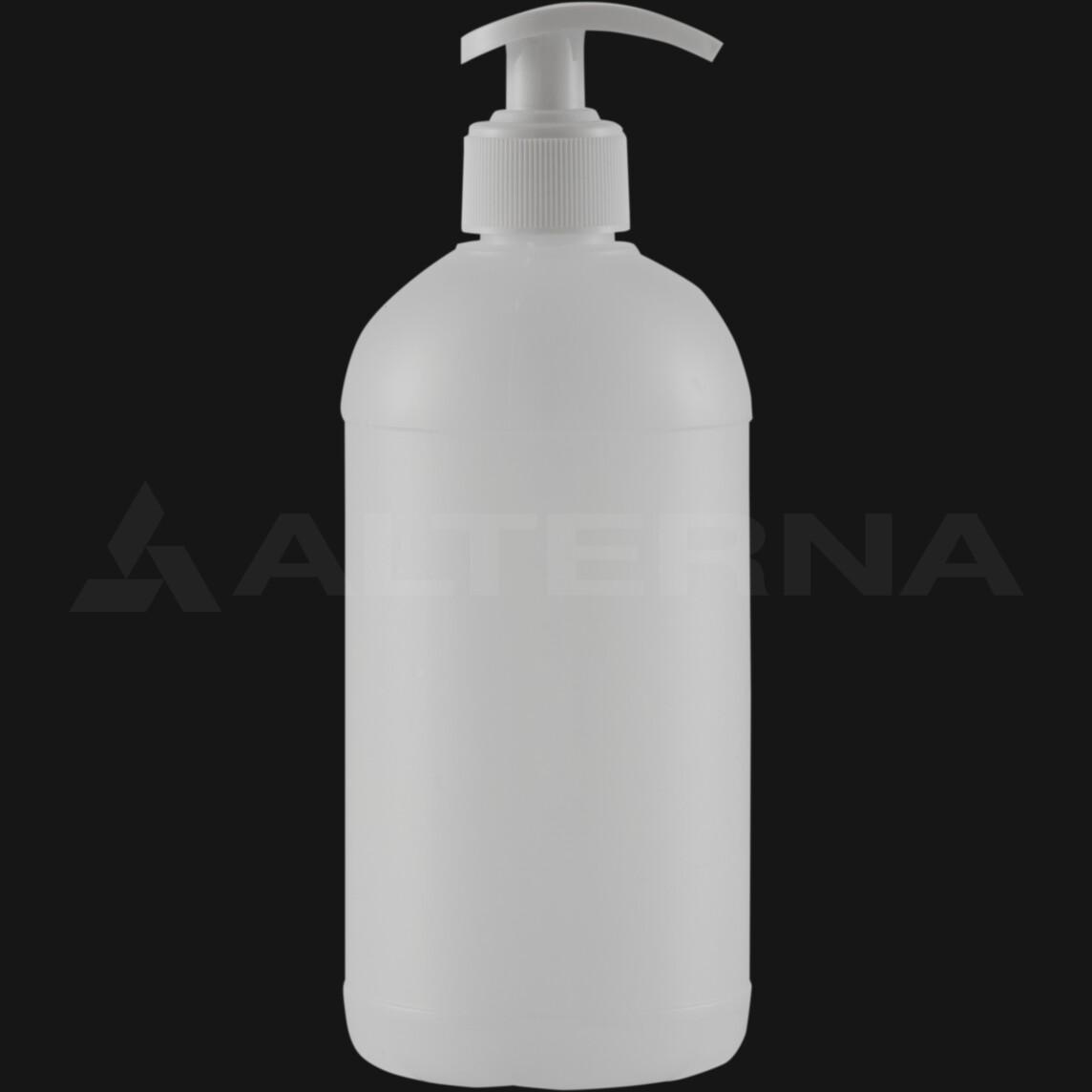 500 ml HDPE Bottle with 28 mm Pump Dispenser