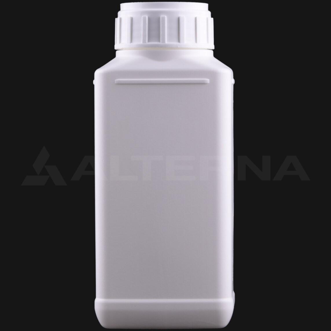 500 ml HDPE Rectangular Bottle with 50 mm Alu. Foil Seal Cap