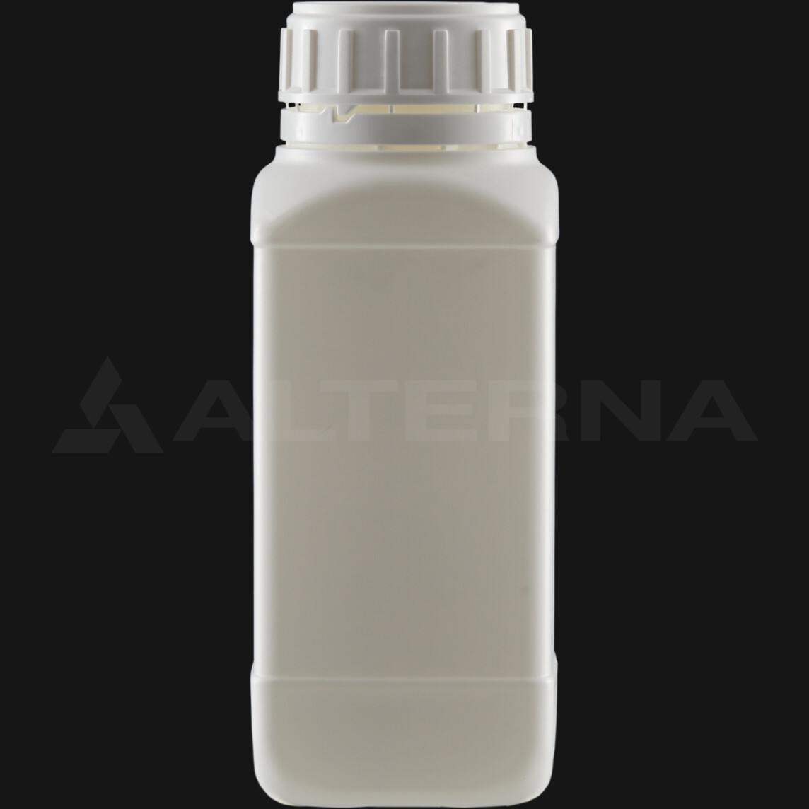 500 ml HDPE Square Bottle with 50 mm Foam Seal Vented Secure Cap