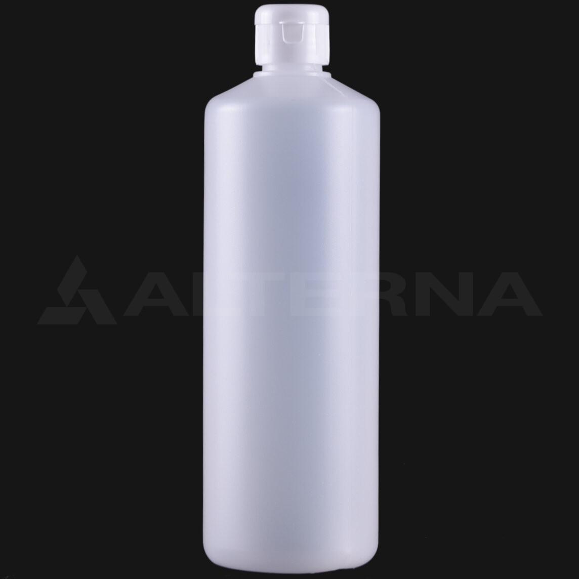 750 ml HDPE Bottle with 28 mm Flip Top Cap