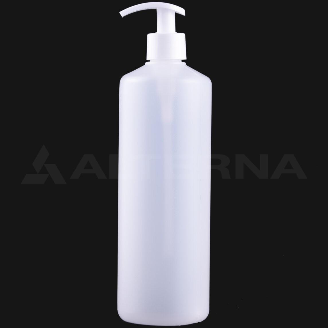 750 ml HDPE Bottle with 28 mm Dispenser Pump