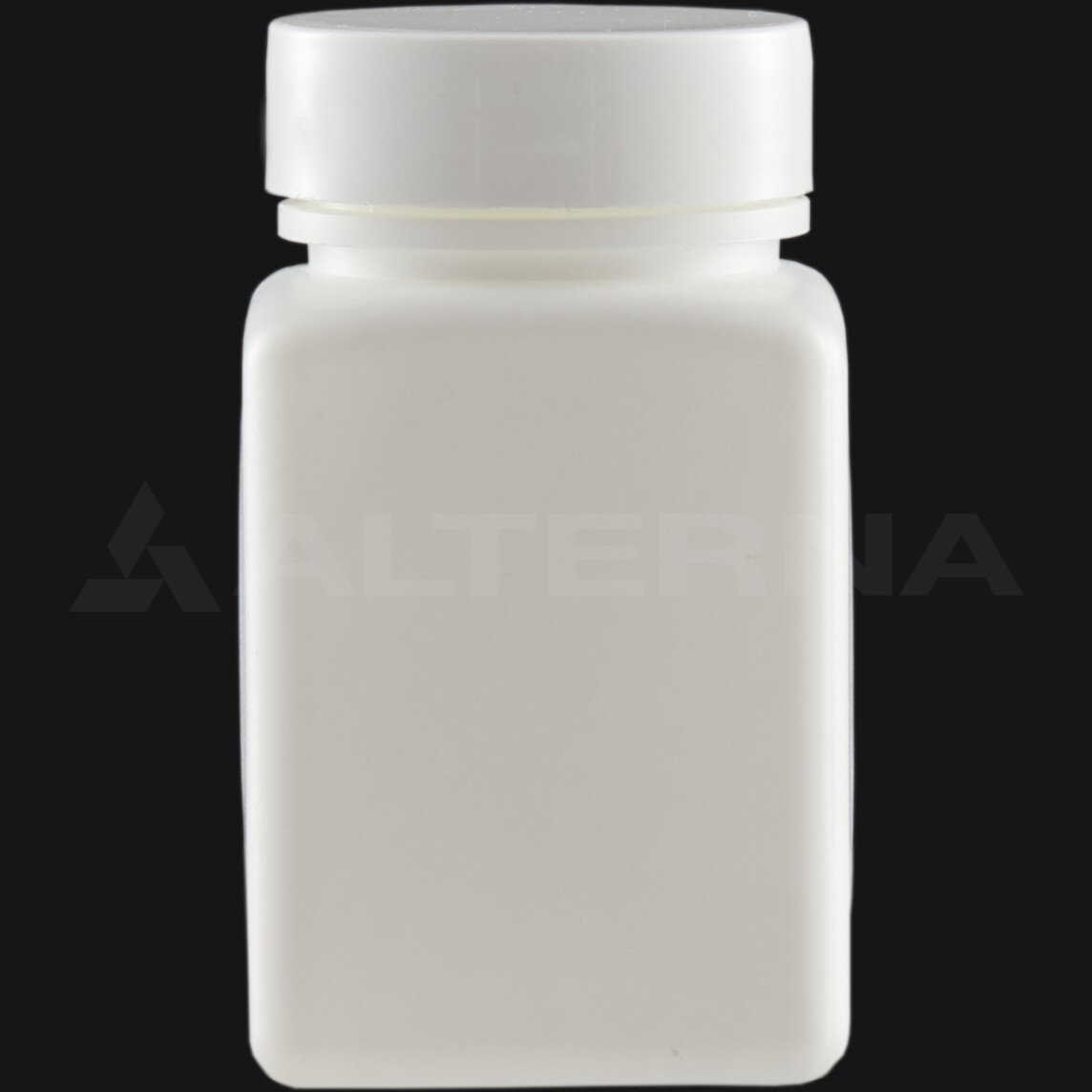 80 ml HDPE Square Pill Bottle with 38 mm Alu. Foil Seal Cap