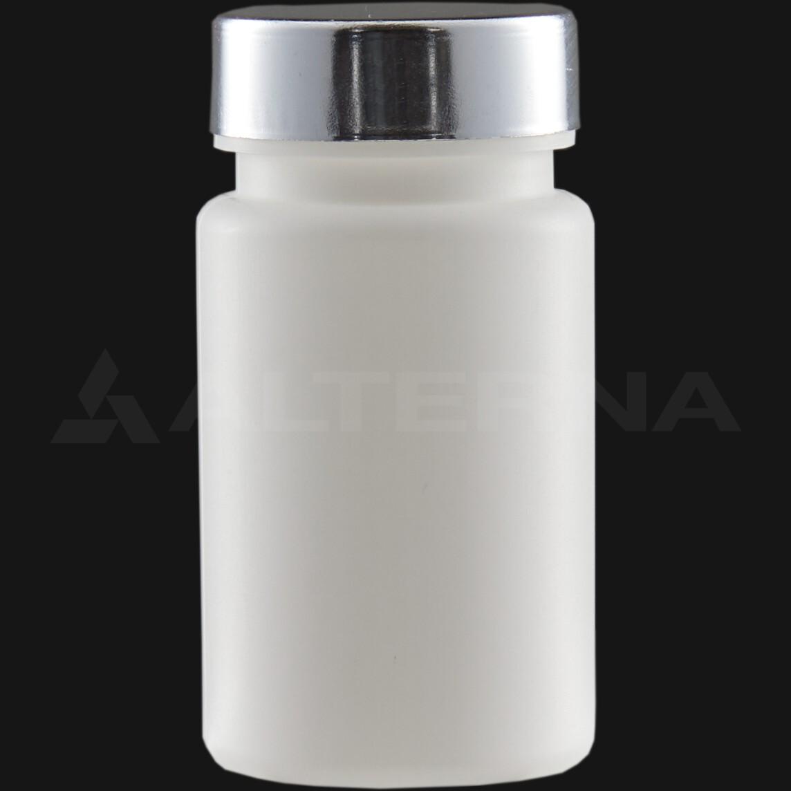 90 ml HDPE Pill Bottle with 38 mm Metal Cap
